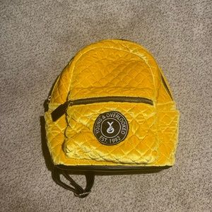 yellow/gold mini backpack
